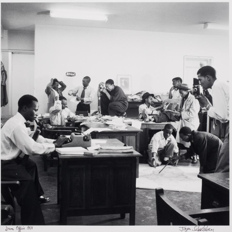 Registro dos fotógrafos e jornalistas da revista 'Drum'