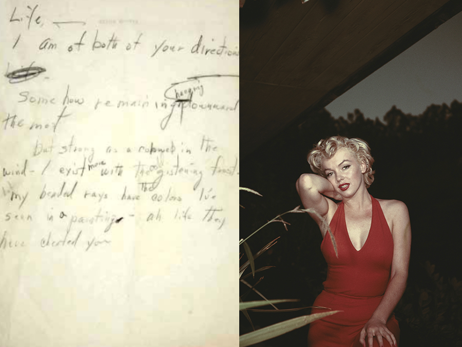 Poema e foto de Marilyn Monroe