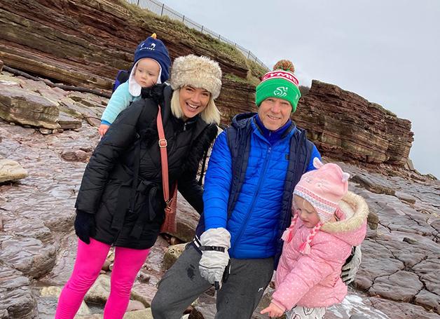 A família no local da descoberta