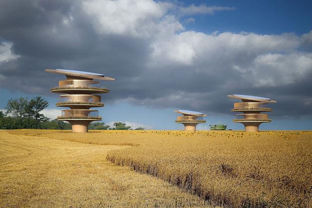 "Projeto das ""casas-girassóis"" de Koichi Takada"