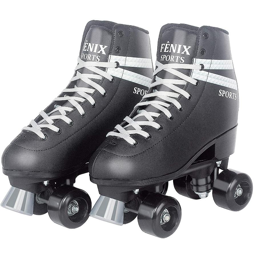 Patins Quatro Rodas Roller Skate Fenix (Preto)