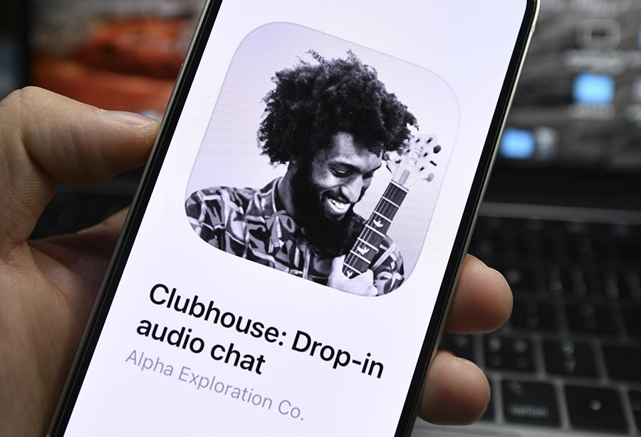 Foto ilustrativa do ícone do aplicativo Clubhouse