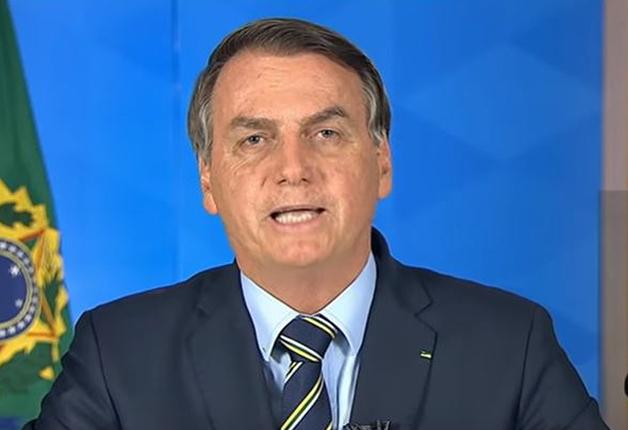 Bolsonaro durante o pronunciamento à nação
