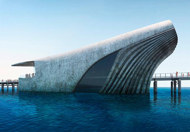 Observatório marinho em forma de baleia oferecerá visão fascinante do fundo do mar