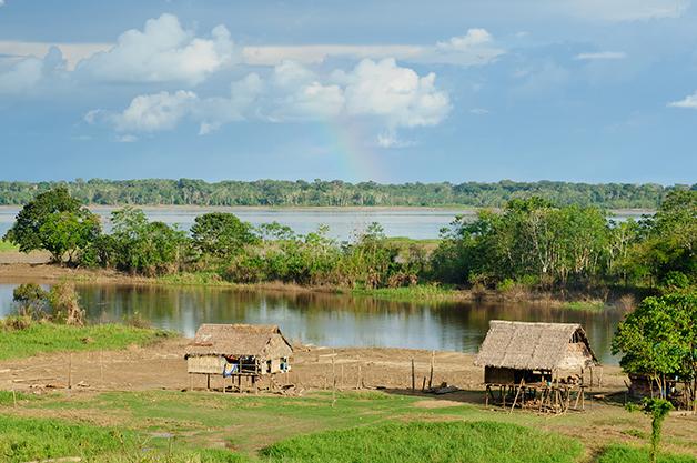 Comunidade indígena em reserva na Amazônia brasileira