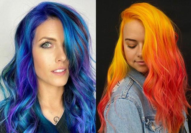 Cabelos coloridos incríveis na cabeça de mulheres que ousaram mudar