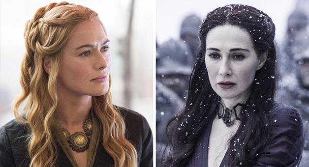 "A atriz Carice Van Houton e Cersei Lannister em ""Game Of Thrones"""