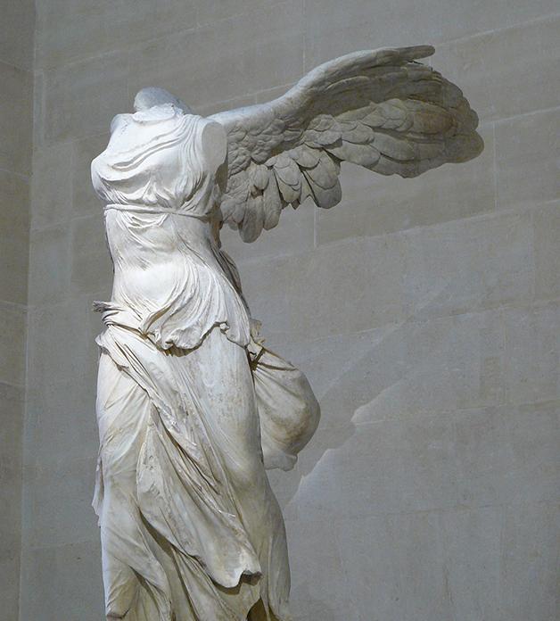 A escultura Vitória de Samotrácia
