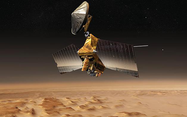 Representação da sonda Mars Reconnaissance Orbiter
