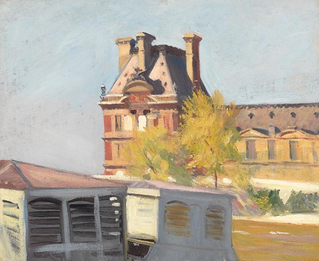 """""""Le Pavillon de Flore"""", de 1909, quadro de Edward Hopper"""
