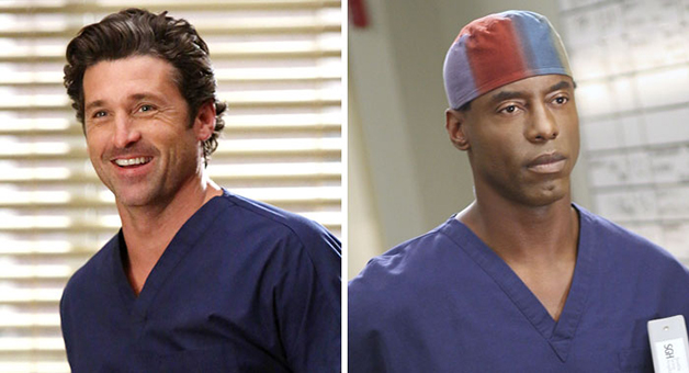 Isaiah Washington e Derek Shepherd, da série Grey's Anatomy