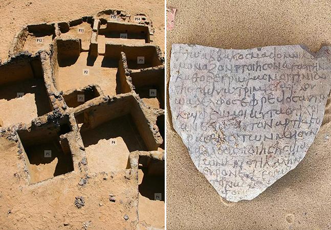 Ruínas de 1,5 mil anos com inscrições bíblicas são descobertas no Egito