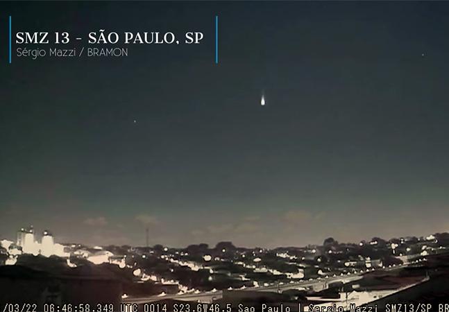 'Bola de fogo' rasga o céu de cidades do Sudeste; veja o vídeo