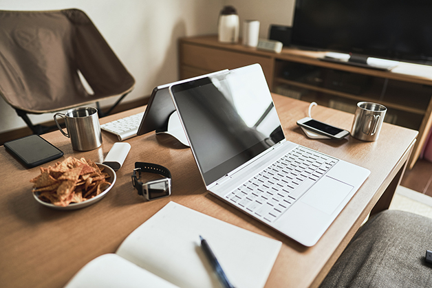 Cenário de um home office