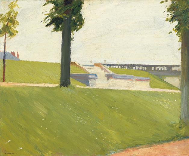 """""""Le Parc de Saint-Cloud"""", de 1907, quadro de Edward Hopper"""