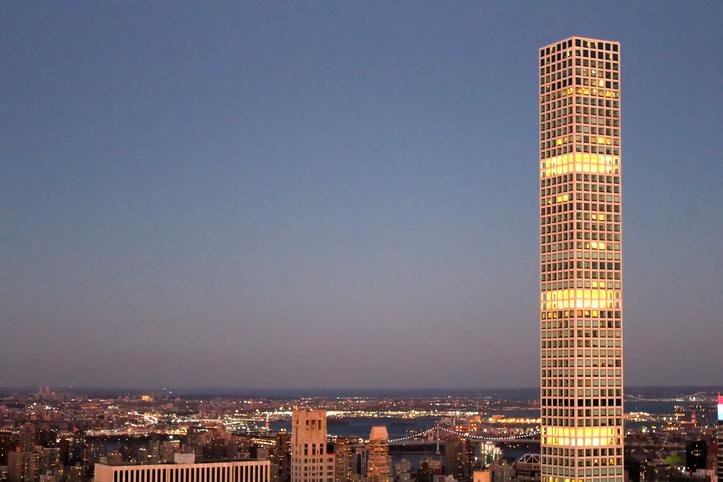 O edifício 432 Park Avenue, em Nova York