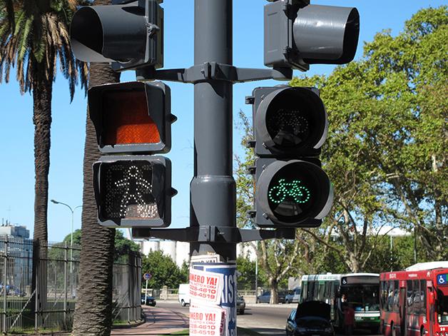 semáforo em Buenos Aires