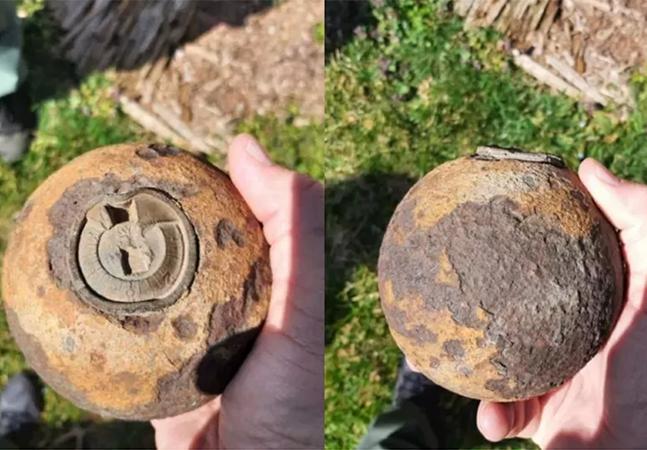 Bala de canhão da Guerra Civil dos EUA é desativada após risco de explosão