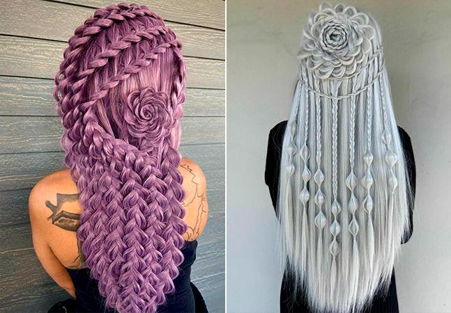 Cabeleireiro viraliza com penteados que parecem instalações de arte