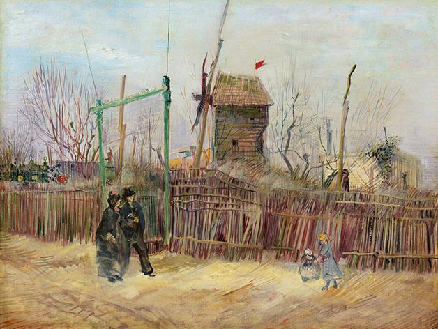 O quadro Scène de rue à Montmartre, de Vincent Van Gogh