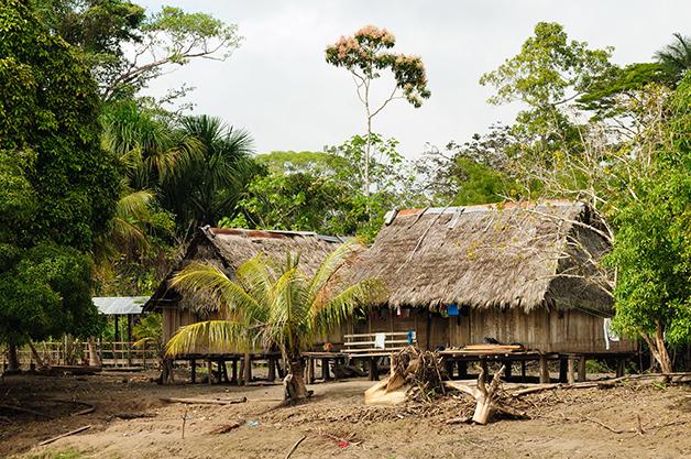Reserva indígena na Amazônia peruana