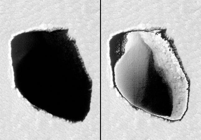 Marte: NASA encontra poço de 180 metros em missão no planeta vermelho