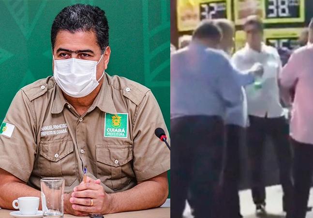 Covid: prefeito e vice descumprem decreto e são filmados bebendo em aglomeração