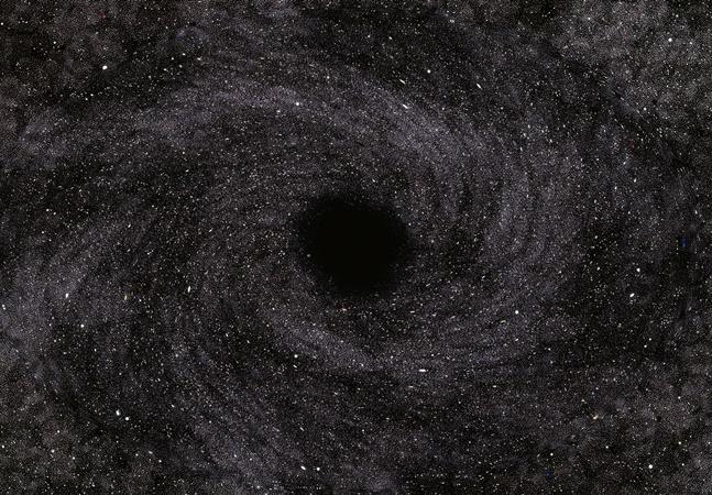 Buraco negro é visto se movimentando a mais de 230 milhões de anos luz