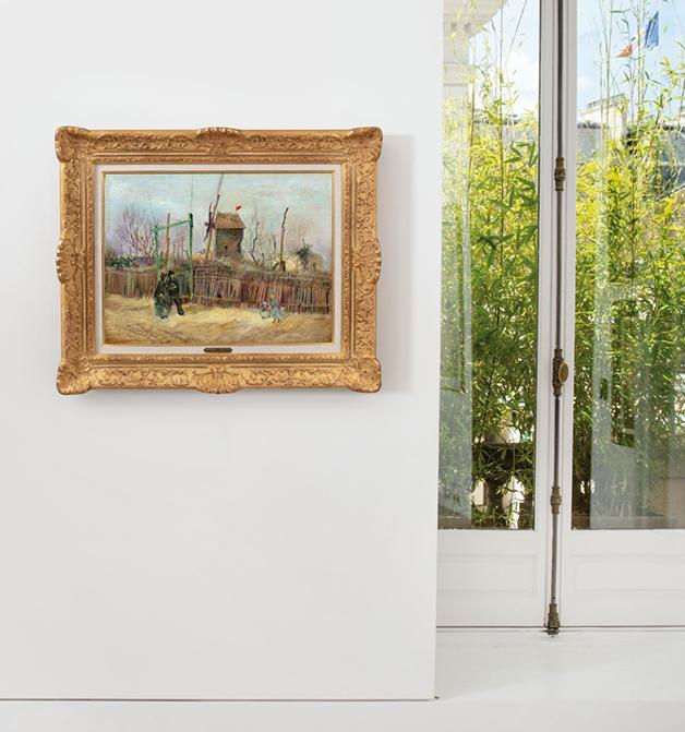 Scène de rue à Montmartre, de Vincent Van Gogh, em parede da Sotheby's