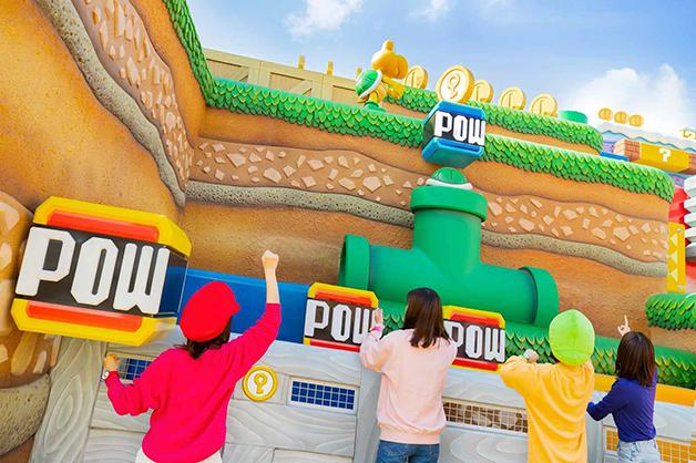 A inauguração do parque Super Nintendo World, no Japão
