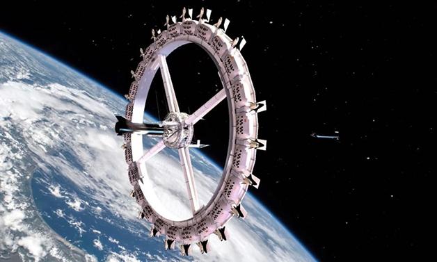 Representação artística do Voyager Class Space Station