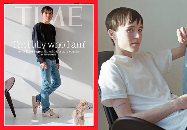 Elliot Page diz se 'sentir completo'; ator falou à Time sobre cirurgia e luta pela comunidade trans