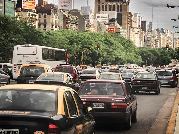 engarrafamento em Buenos Aires