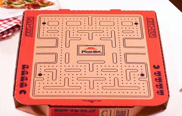 Caixa da Pizza Hut do Pac-Man