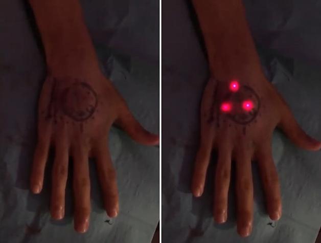 As luzes de LED acesas do flexMN Magic
