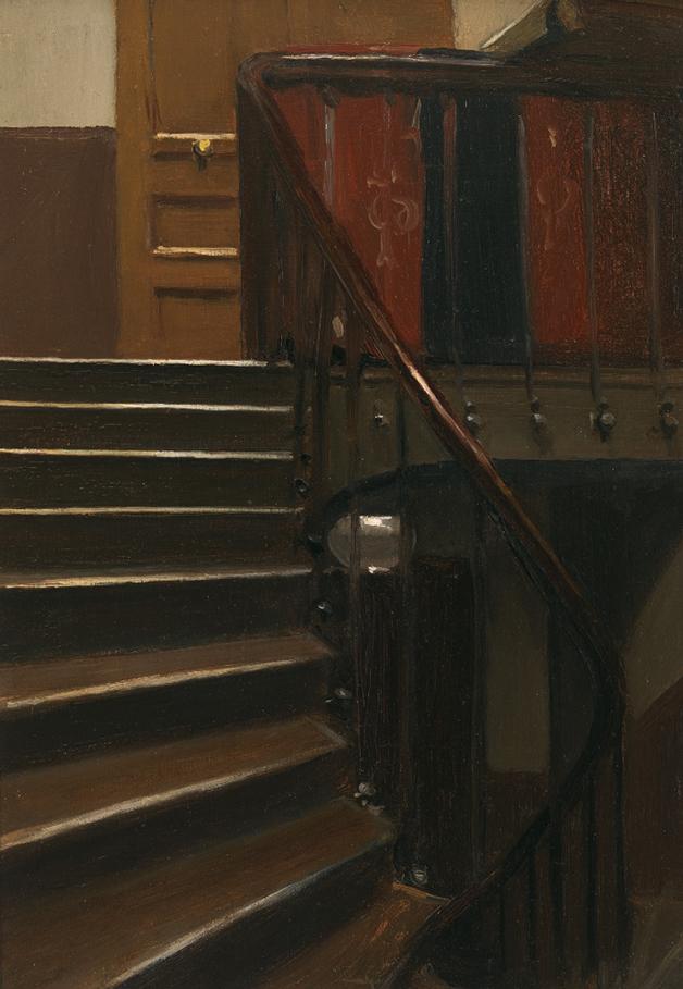 """""""Stairway at 48 Rue de Lille Paris"""", de 1906, de Edward Hopper"""