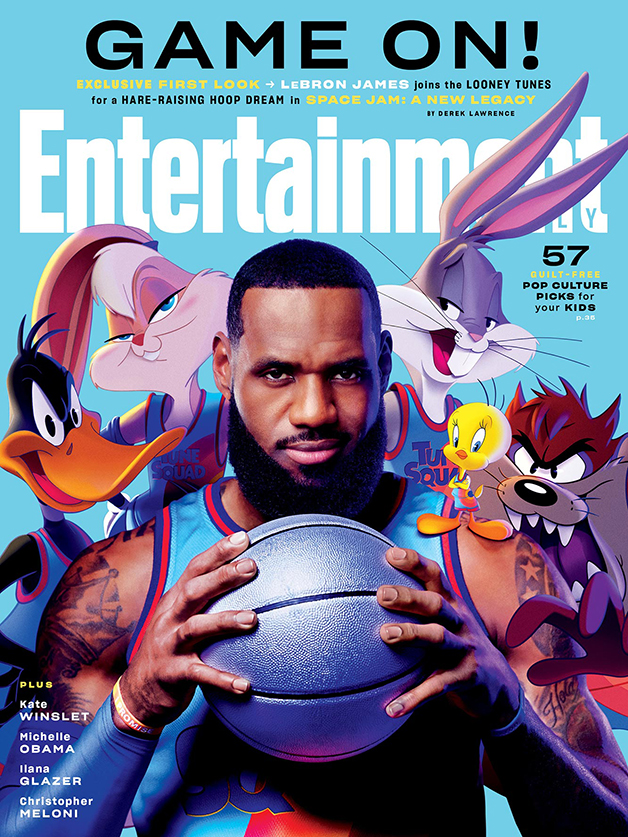 Capa da revista Entertainment Weekly sobre Space Jam 2