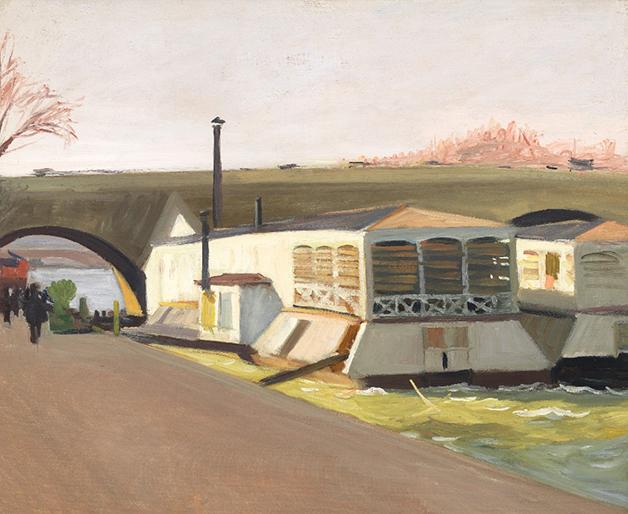 """""""Les Lavoirs du Pont Royal"""", de 1907, quadro de Edward Hopper"""