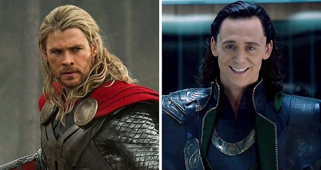 Tom Hiddleston e o personagem Thor