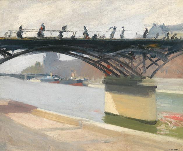 """Le Pont des Arts"", de 1907, quadro de Edward Hopper"
