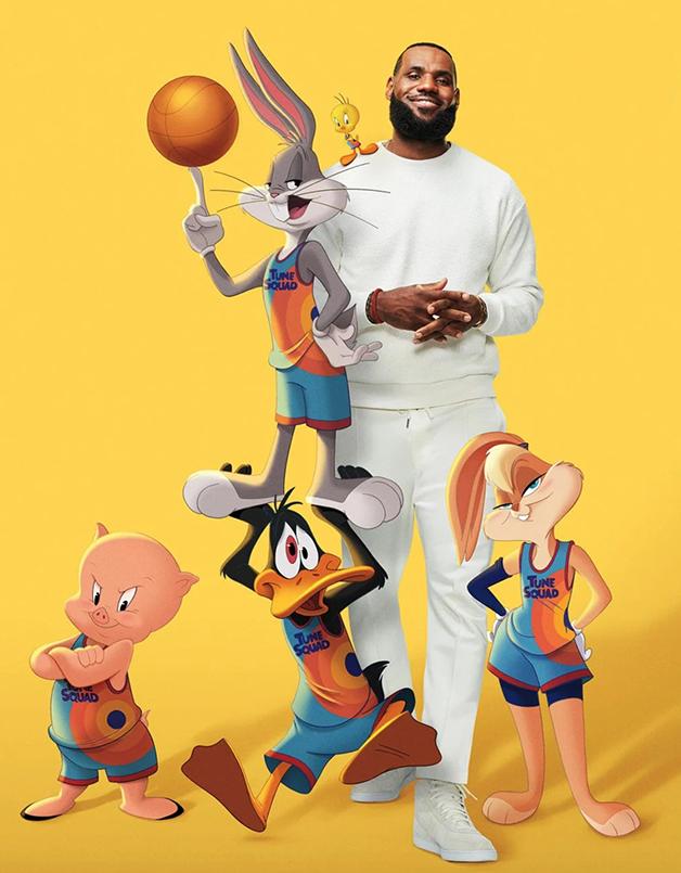 """LeBron James """"junto"""" dos personagens Looney Tunes em divulgação de Space Jam 2"""
