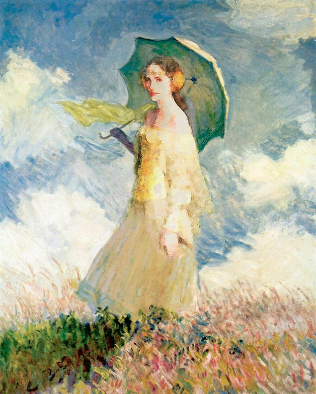 Padmé Amidala em um quadro de Monet