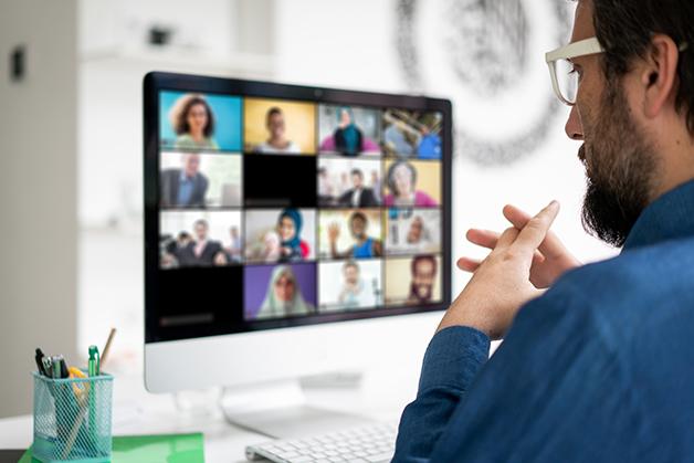 Reunião em chamada de vídeo