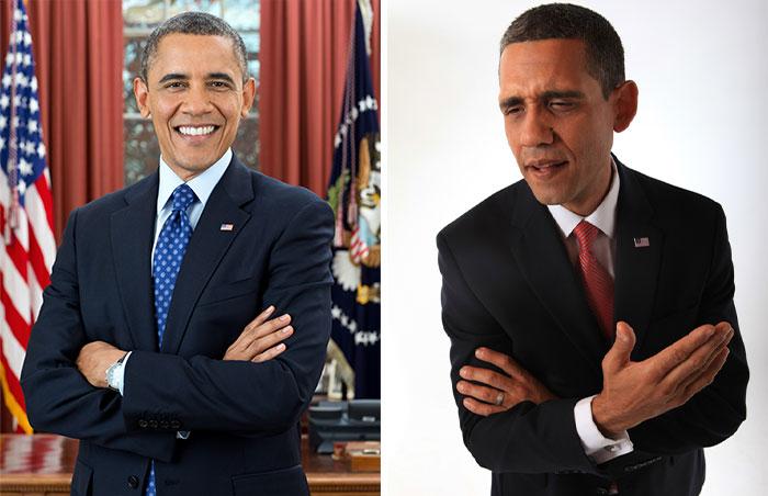 Barack Obama e seu sósia