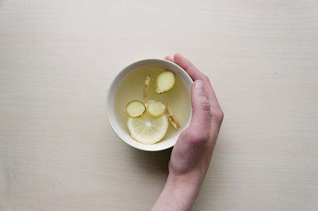 Chá da raiz do gengibre