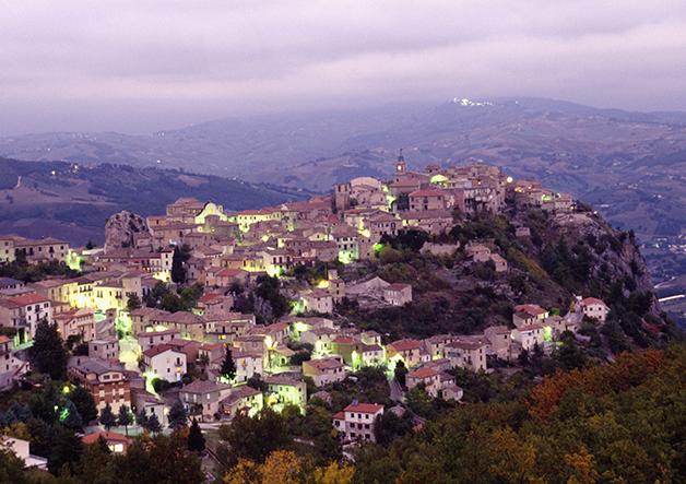 O vilarejo de Castropignano