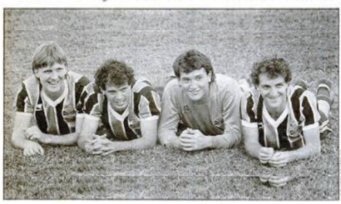 Fernando, Henrique, Eduardo e Cuca no Grêmio, em 1987