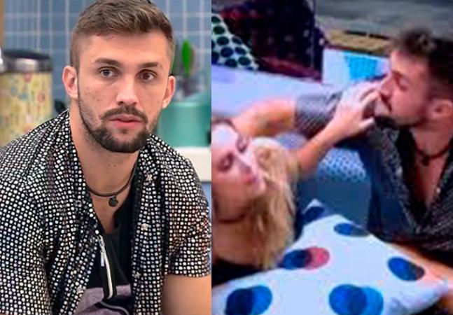 'BBB': Arthur é alvo de pedidos de expulsão após fãs denunciarem beijo forçado em Carla Diaz