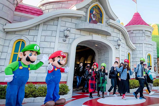 inauguração do parque Super Nintendo World, no Japão