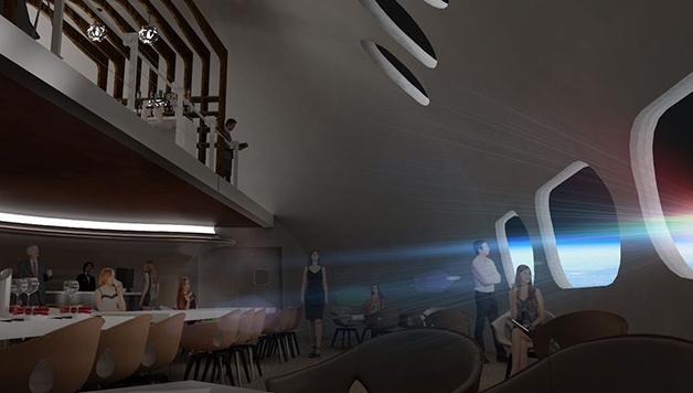 Outro detalhe do restaurante no espaço no hotel